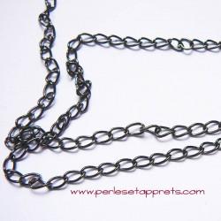 Chaîne maille gourmette 5mm gris gunmetal pour bijoux, perles et apprêts