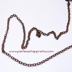 Chaîne maille forçat 2mm cuivre bronze, pour bijoux, perles et apprêts
