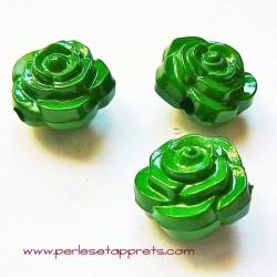Perle synthétique rose verte 16mm pour bijoux, perles et apprêts