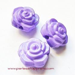 Perle synthétique rose mauve 16mm pour bijoux, perles et apprêts
