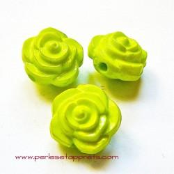 Perle synthétique rose vert clair 16mm pour bijoux, perles et apprêts