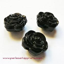 Perle synthétique rose noire 16mm pour bijoux, perles et apprêts