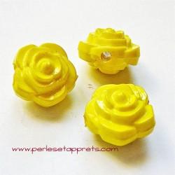 Perle synthétique rose jaune 16mm pour bijoux, perles et apprêts