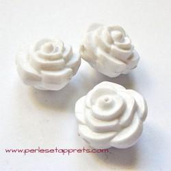 Perle synthétique rose blanche 16mm pour bijoux, perles et apprêts