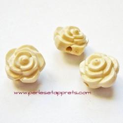 Perle synthétique rose ivoire 16mm pour bijoux, perles et apprêts