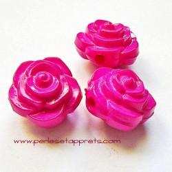 Perle synthétique rose fuchsia 16mm pour bijoux, perles et apprêts