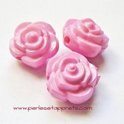 Perle synthétique rose rose 16mm pour bijoux, perles et apprêts
