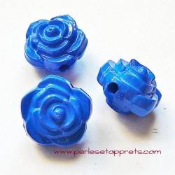 Perle synthétique rose bleue 16mm pour bijoux, perles et apprêts
