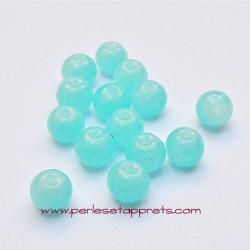 Perle ronde en verre opaline 6mm