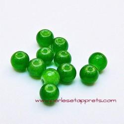 Perle ronde verre 4mm vert