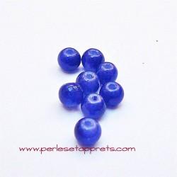 Perle ronde en verre bleu marine 4mm pour bijoux, perles et apprêts