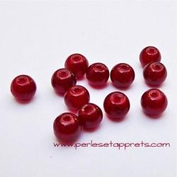 Perle ronde en verre bordeaux 4mm pour bijoux, perles et apprêts