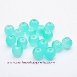 Perle ronde en verre opaline 4mm