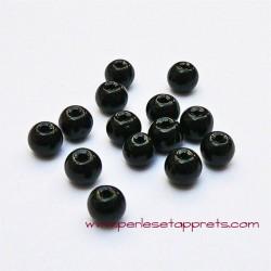 Perle ronde en verre noir 4mm pour bijoux, perles et apprêts