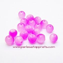Perle ronde en verre double rose 4mm pour bijoux, perles et apprêts